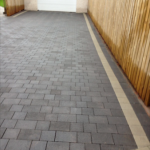 This picture is of an actual driveway, courtesy of Driveways by Design.