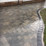 Skye Maura Mixed with Charcoal Medium Border Laid by Driveways by Design